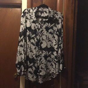 Sheer floral shirt